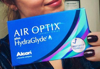 Новые контактные линзы Air Optix plus HydraGlyde